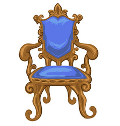 Vintage chair with carved ornaments and decor vector