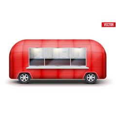 Vintage food truck trailer vector
