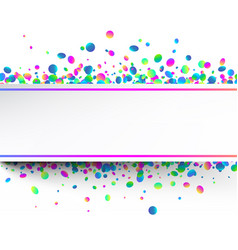 white festive background with colorful confetti vector image