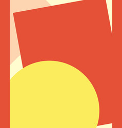 yellow red background with blank space vector image