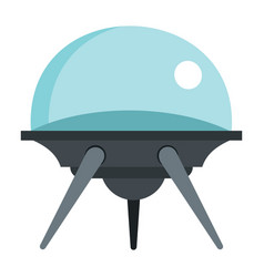 flat cartoon spaceship ufo object isolated on vector image