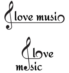 I love music background vector image vector image