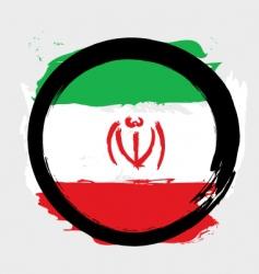 Iran circle flag vector image vector image