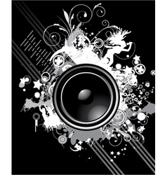 music poster with speaker vector image