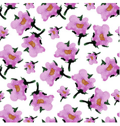watercolor floral seamless pattern with flowers vector image