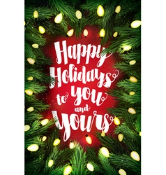Happy Holidays typographic poster vector image