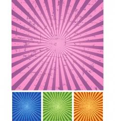 retro radial background vector image vector image