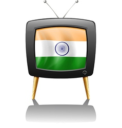 A television with the flag of india vector