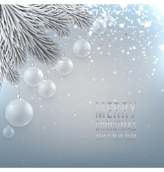 Christmas background with glass ball vector image vector image