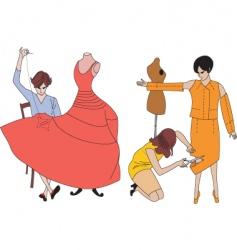 dressmaker vector image vector image