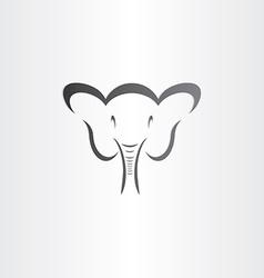 happy elephant head sylized symbol vector image
