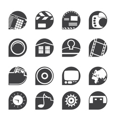 Internet and mobile phone icons vector image vector image