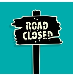 Road Closed sign vector image