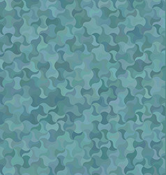 Teal abstract curved mosaic pattern background vector