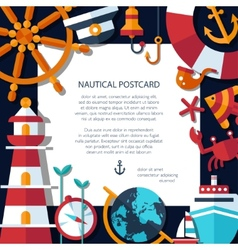 vintage flat design modern nautical marine post vector image