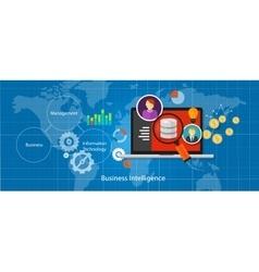 business intelligence database analysis vector image