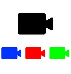 camcorder glyph icon vector image