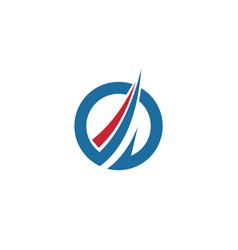 circle loop finance abstract logo vector image