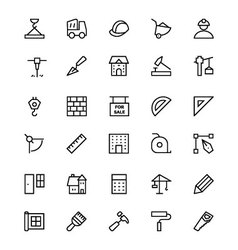 Construction Line Icons 1 vector image
