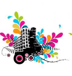 grunge buildings vector image vector image