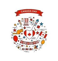 Happy canada day elements set vector