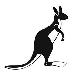 kangaroo icon simple style vector image vector image