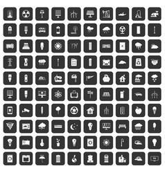 100 windmills icons set black vector