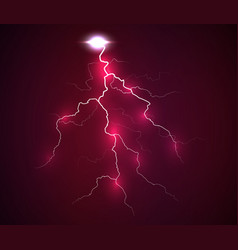 a flash of lightning vector image