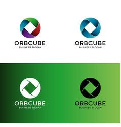 abstract color circle logo vector image