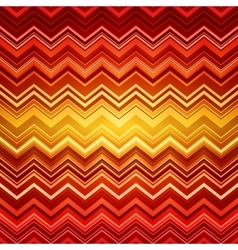 Abstract red and orange zig-zag warped stripes vector image