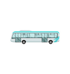 airport shuttle bus large comfortable vehicle for vector image