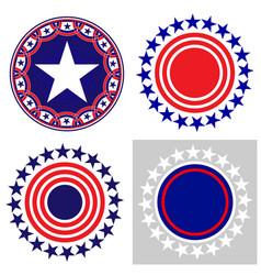 american symbols icon set vector image