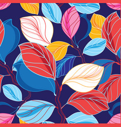 Autumn seamless color pattern vector