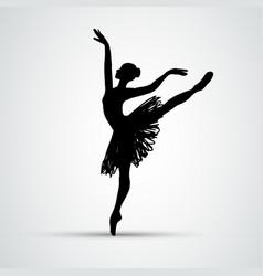 Ballet girl dancing woman silhouette eps10 vector