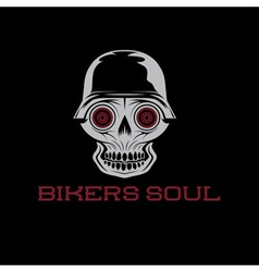 bikers soul concept with skull vector image