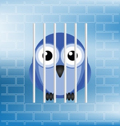bird jailbird vector image