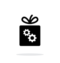 Box with gear icon on white background vector