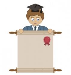 boy graduating vector image