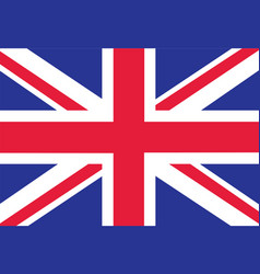 british flag as background flag of great britain vector image