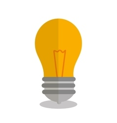 Bulb light idea isolated icon vector