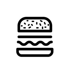 burger icon food vector image