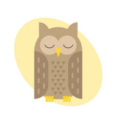 cartoon owl bird cute vector image