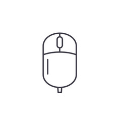 computer wireless mouse line icon concept vector image