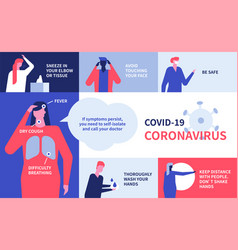 Coronavirus recommendations - colorful flat design vector