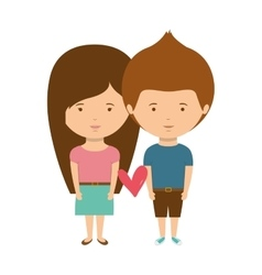 couple with casual clothes inlove vector image