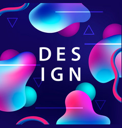 creative design with plastic colorful shapes vector image