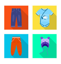 design of fashion and garment symbol set vector image
