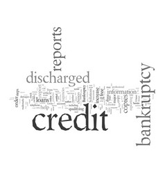 Discharged bankruptcy these steps could help vector