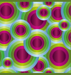 disco party seamless pattern colored circles vector image