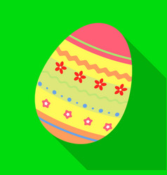 dyed patterns egg for easter easter single icon vector image